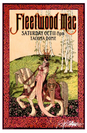 Fleetwood Mac Tacoma 98 1st Edition Poster Bob Masse